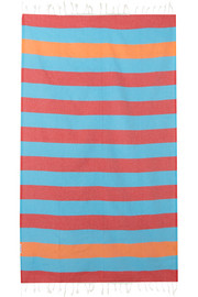 Set of two striped woven cotton towels