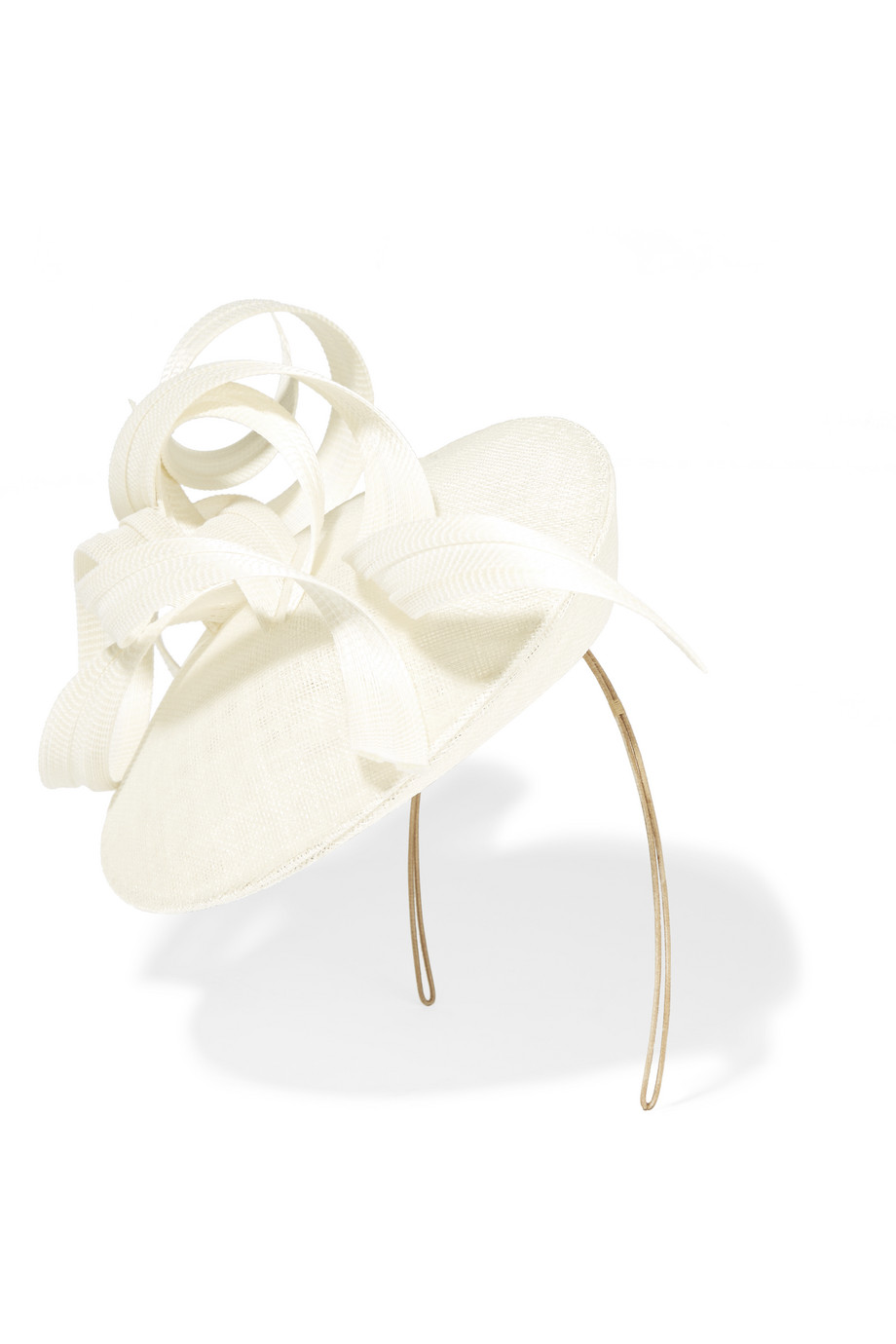 Philip Treacy Sinamay and Buntal Straw Headpiece, Cream, Women's