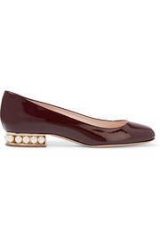Casati embellished patent-leather ballet flats