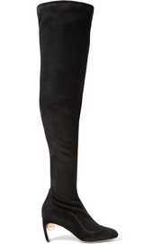 Nicholas Kirkwood Maeva embellished stretch-suede over-the-knee boots