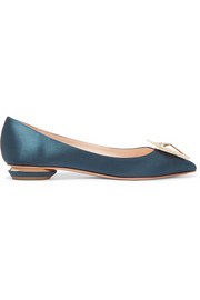 Nicholas Kirkwood Eden Jewel crystal-embellished satin point-toe flats
