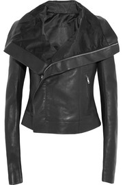 Rick Owens Cyclops textured-leather biker jacket