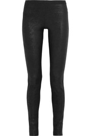 Stretch-nubuck leggings