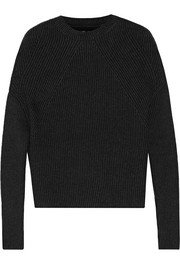 Crater ribbed cashmere-blend sweater