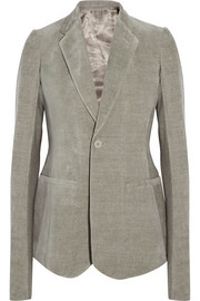 Rick Owens Cotton and linen-blend blazer