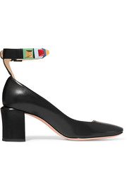 Fendi Embellished leather pumps