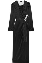 Talisman stretch silk-satin robe