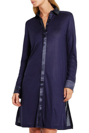 La Perla Morgane silk satin-trimmed stretch-jersey nightshirt