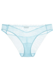 La Perla Lace Flirt Leavers lace and tulle briefs