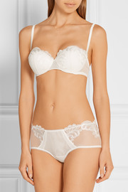 La Perla Windflower embroidered tulle briefs