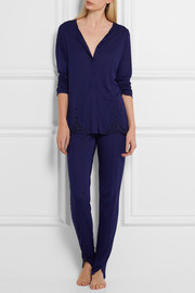 La Perla Windflower lace-trimmed modal-jersey pajama set