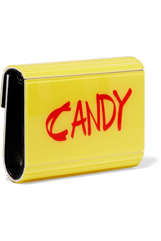 Jimmy Choo Candy printed acrylic clutch