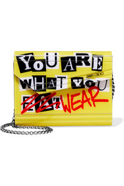 Jimmy Choo Candy printed acrylic clutch