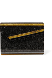 Candy glittered acrylic clutch