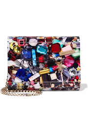 Jimmy Choo Candy embellished printed acrylic clutch