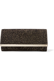 Jimmy Choo Milla embellished suede clutch