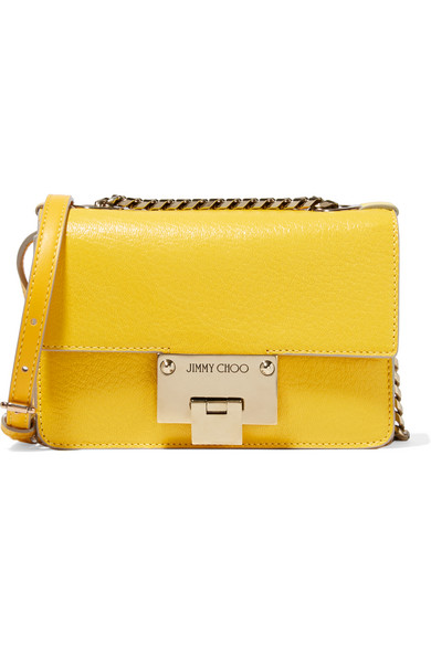 Jimmy Choo - Rebel Mini Textured-leather Shoulder Bag - Yellow
