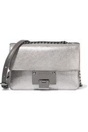 Rebel mini metallic textured-leather shoulder bag
