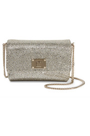 Jimmy Choo Ruby glittered canvas shoulder bag