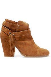Harrow fringed suede ankle boots