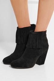 Rag & bone Newbury fringed suede ankle boots