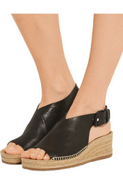 Rag & bone Sienna leather espadrille wedge sandals