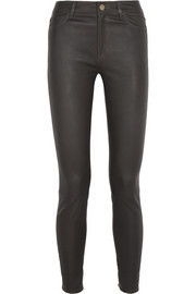 Bridge stretch-leather skinny pants