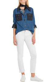 M.i.h Jeans Paris cropped low-rise skinny jeans
