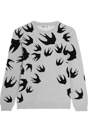 McQ Alexander McQueen Flocked cotton-blend terry sweatshirt