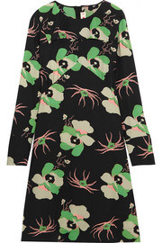 Marni Floral-print silk crepe de chine dress