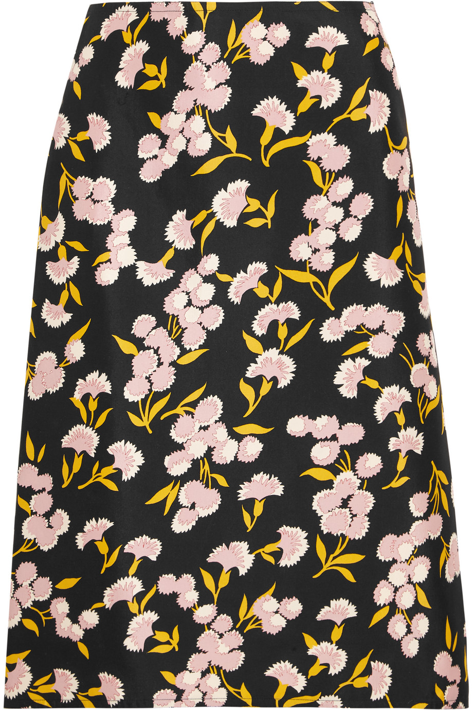 Marni Floral-Print Cotton and Silk-Blend Faille Skirt, Size: 40