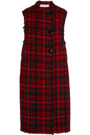 Marni Checked wool-blend tweed vest