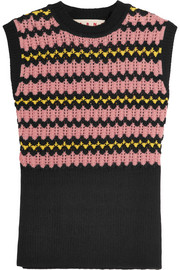 Marni Wool-blend crochet-knit sweater