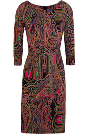 Paisley-print stretch-jersey dress