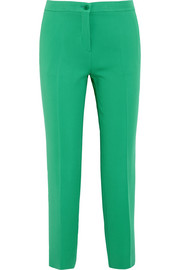 Capri crepe straight-leg pants