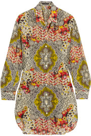 Printed cotton and silk-blend shirt