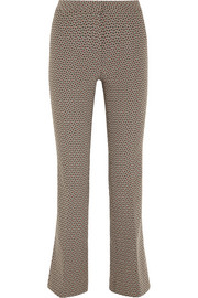 Gemma cropped jacquard flared pants