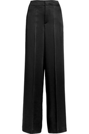 Ampio crepe de chine wide-leg pants