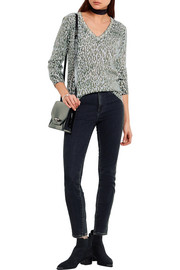 Equipment Cecile leopard-print cashmere sweater