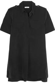 Equipment Major washed-silk shirt dress