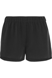 Landis washed-silk shorts