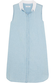 Equipment Lanie cotton-chambray mini dress