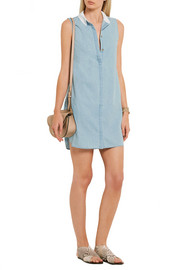 Lanie cotton-chambray mini dress