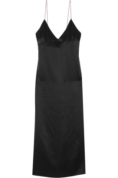 rag & bone. Nina silk-charmeuse midi dress