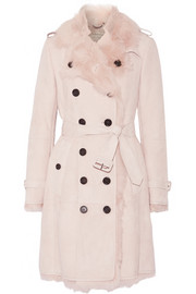 Burberry London Toddingwall shearling trench coat