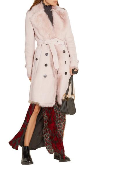 Burberry | Toddingwall shearling trench coat | NET-A-PORTER.COM