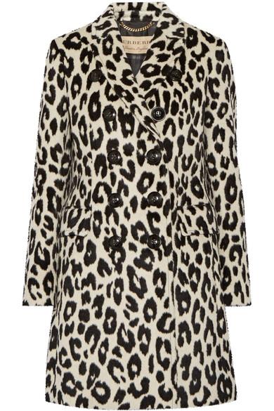 Burberry - Plaistow Leopard-print Llama Hair And Wool-blend Trench Coat - Leopard print