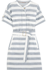 Burberry Brit Belted striped cotton shirt dress