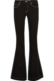 Burberry Brit Mid-rise flared jeans