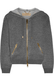 Burberry Brit Cashmere and cotton-blend hooded top
